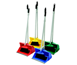Picture of Long Handled Dustpan and Brush - BLUE
