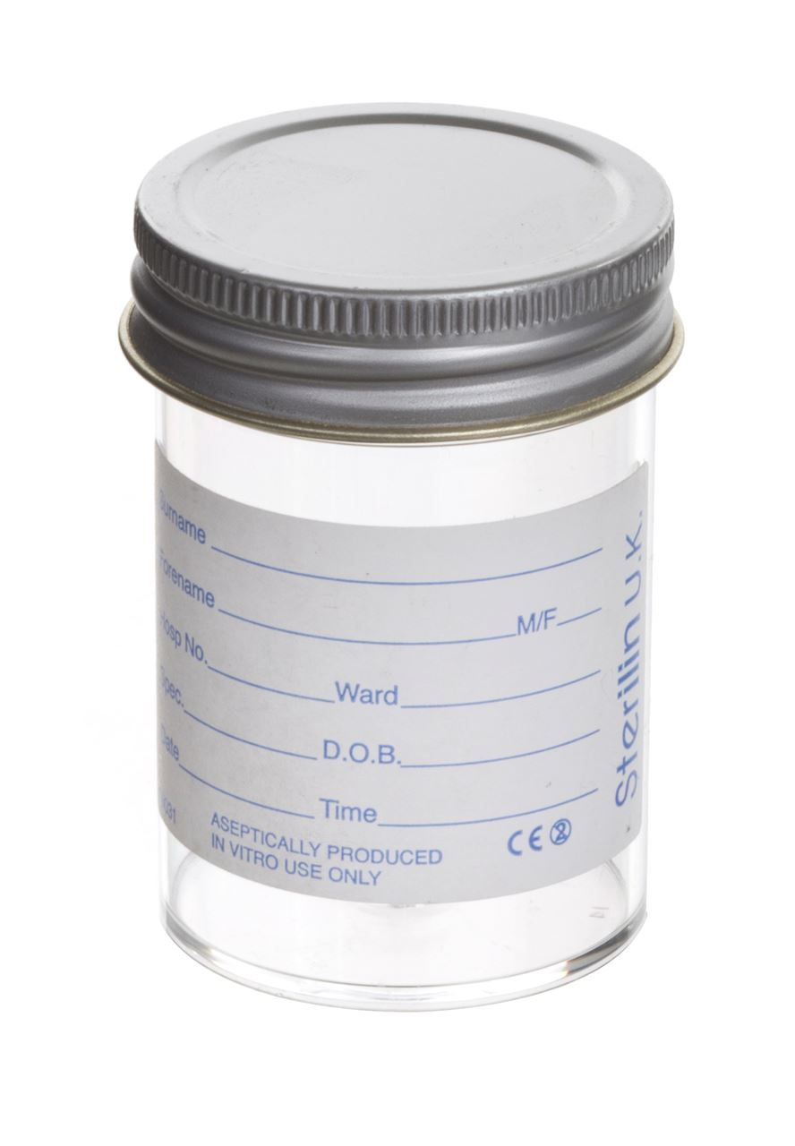 Picture for category Sterilin Polystyrene Container - Urine Bottle