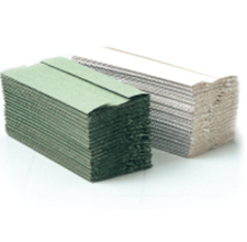 Picture of 1ply GREEN C-Fold Hand Towels (256 Sheets x 10 Sleeves) -- [HTC125GR]