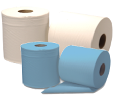 Picture of BLUE Centre Feed Rolls - 2ply - 150m (6 Rolls)  -- [C2B159F]