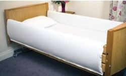 Picture of Standard Length Profiling Bed Rail Bumpers - White (87cm x 137cm)