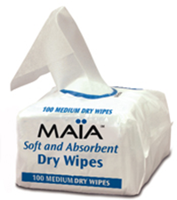 Picture of MAIA  Medium Dry Soft Wipes - 30cm x 20cm (100/pack)
