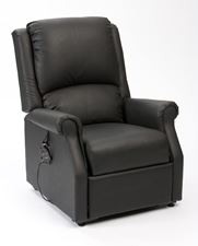 Picture of Chicago Riser Recliner in AM-PVC - BLACK