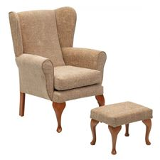 Picture for category Queen Anne Chair/Footstool - Biscuit