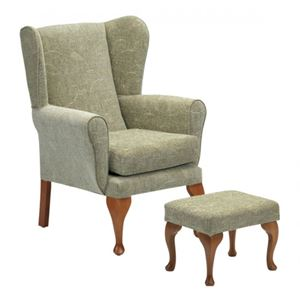 Picture for category Queen Anne Chair/Footstool - Sage