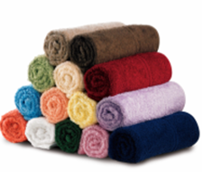 Picture of Knitted Bath Towels Blue (Pack of 6)