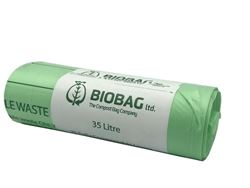 Picture of Biodegradable Food Waste Caddy Bin Liner Bags (35L) - (20 Rolls x 25 Bags)
