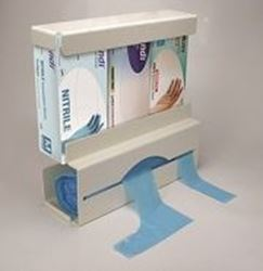 Picture of Duo Dispenser - Apron on a Roll and 3 Box Glove Holder in One