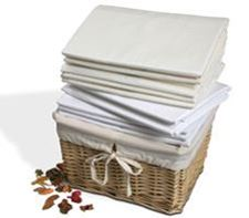 Picture of Fitted Sheet, Poly/Cotton, Ivory, Single
