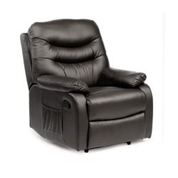 Picture of Hebden Manual Riser Recliner Chair - Black Leather