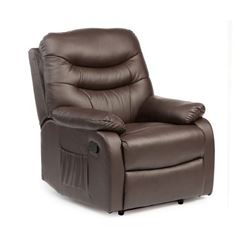 Picture of Hebden Manual Riser Recliner Chair - Brown Leather