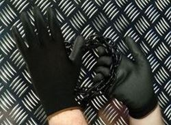 Picture of Black Coated Polyurethane Coated Nylon Gloves (Pair)