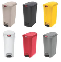 Picture of Slim Jim Step-On 50L Container (46 x 29 x 72 cm) - RED