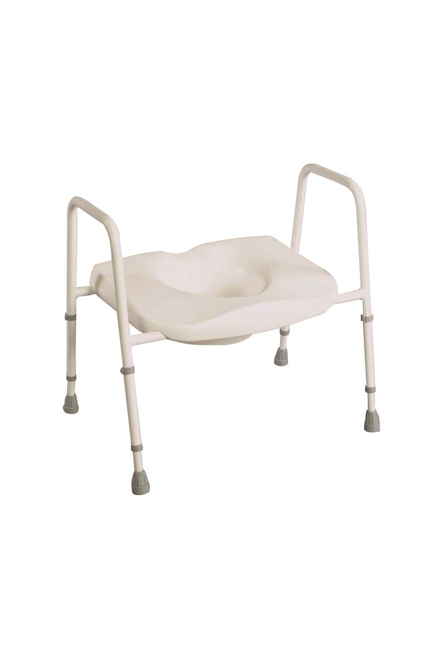 Picture of Heavy Duty Bariatric Toilet Frame with Seat - Floor Fixing