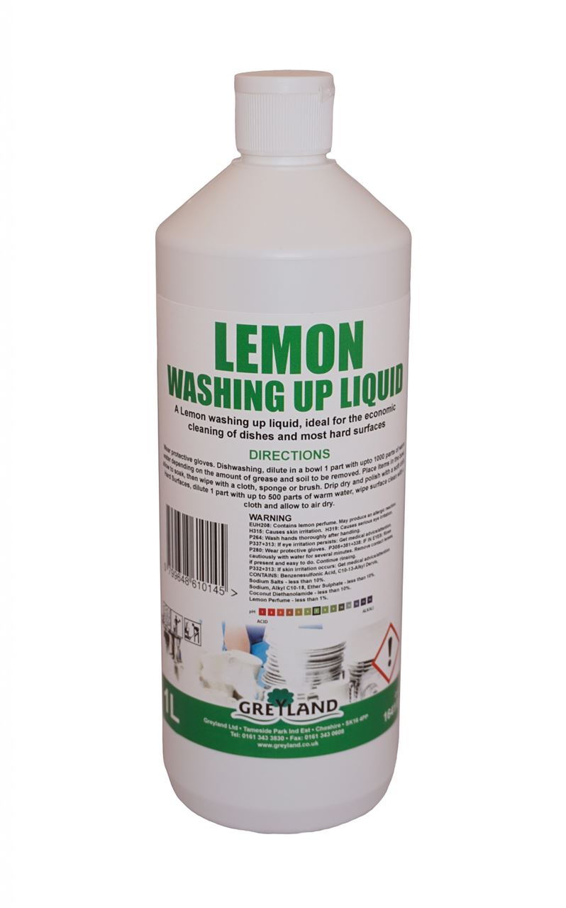 Picture of GREYLAND Lemon Washing-up Liquid (10 x 1 Litre)