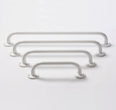 "Picture of Non Peel Grab Rail 24"" Flanged White"