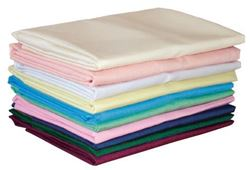 Picture of Flat Sheet, Poly/Cotton, Burgundy, Single