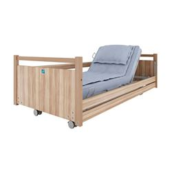 Picture of HEBDEN Bed Model 02 - Fingerkit and Side Rails (Light Oak)