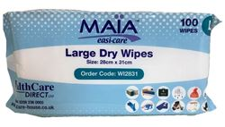 Picture of Large Dry Wipes 28 x 31cm (100)