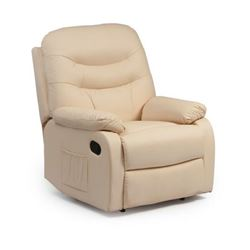Picture of Hebden Manual Riser Recliner Chair - Cream Leather