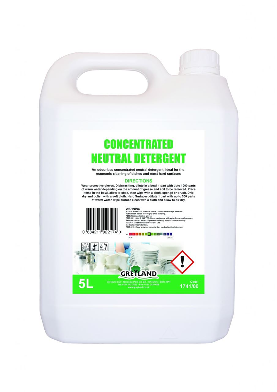 Picture of GREYLAND Concentrated Neutral Detergent (4 x 5 Litre)