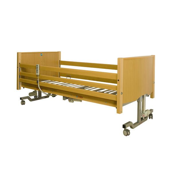 Picture of Bradshaw Nursing Care Bed - Light Oak (3-Bar Lockable Side Rails)