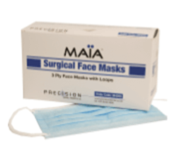 Picture of MAIA Surgical Masks, BLUE ,  3ply with Ties (50)