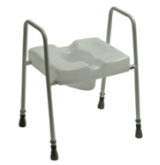 Picture of Spalding Combi Scandia Toilet Frame with Toilet Seat - Floor Fixing Legs