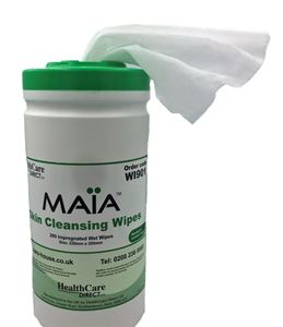 Picture for category Moist Cleansing Wipes by MAIA in Tub