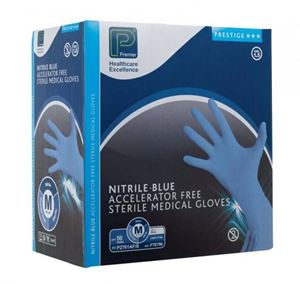 Picture for category Premier sterile blue nitrile Powder Free Gloves