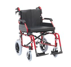 """Picture of XS Aluminium Wheelchair (20"""" - Red) - Self Propel"""