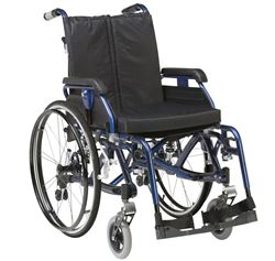 """Picture of 18"""" K-Chair Suspension Wheelchair (Blue)"""