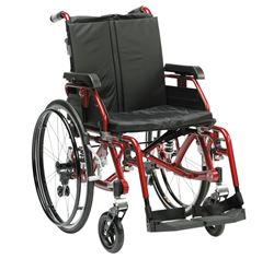 """Picture of 18"""" K-Chair Suspension Wheelchair (Red)"""