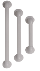 Picture of 12inch Plastic fluted Grab Rail - WHITE