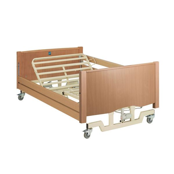 Picture of Bradshaw Bariatric Nursing Care Bed - Light Oak (with Side Rails)