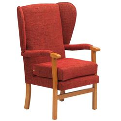 Picture of Jubilee Fireside Chair - Crimson