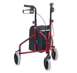 Picture of Ultra Lightweight Tri-Walker with Vinyl Bag - Red
