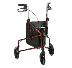Picture of Flame Aluminium Tri-Walker with Bag - Red Flame