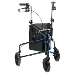 Picture of Flame Aluminium Tri-Walker with Bag - Blue Flame
