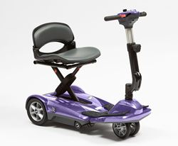 Picture of Dual Wheel Auto Fold Scooter - Purple