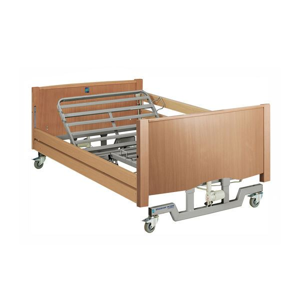 Picture of Bradshaw Wide Nursing Care Bed With Silver Frame & Side Rails