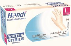 Picture of Handi WHITE NITRILE  PF Gloves / Medium (200)