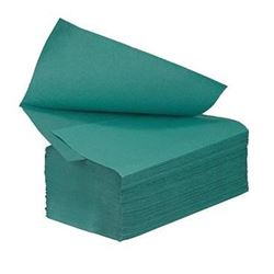 Picture of 1-Ply Green Interfold Hand Towels (3600 Sheets)