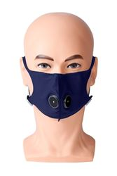 Picture of Reusable Respirator Mask - Adult - Blue (With 28 days of Filters)