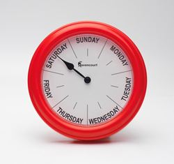 Picture of Red Day Clock