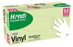 Picture of Handi  VINYL  PF Gloves / Medium (100)