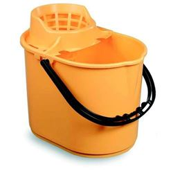 Picture of Economy Mop Bucket & Wringer (15 Litres) YELLOW