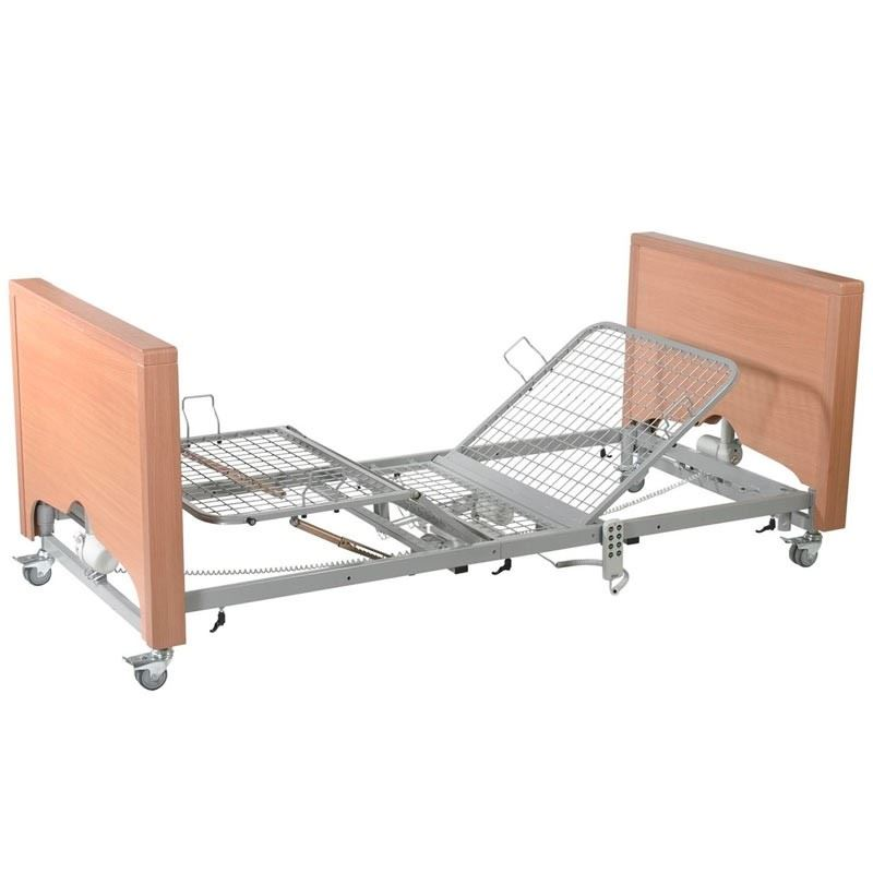 Picture of Casa Med Classic FS Profiling Bed - Beech with Metal Mesh (No Side Rails)