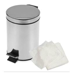 Picture of White PEDAL Bin Liners FLAT PACK  (1000/case) -- 279 X 430 X 457mm [PBL]