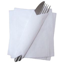 Picture of Napkins - 1ply WHITE - 33x33cm (5000/case - 10x500) -- [SPD314]